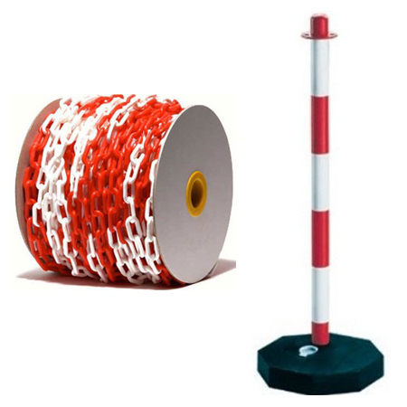 COLONNA PVC CON CATENA